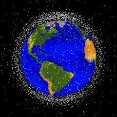 Desechos espaciales en órbita terrestre baja
