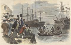 John Andrews, Boston Tea Party - Destrucción del Té en Boston Harbor, 16 de diciembre 1773