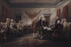 John Trumbull, la Declaración de la Independencia, 04 de julio 1776